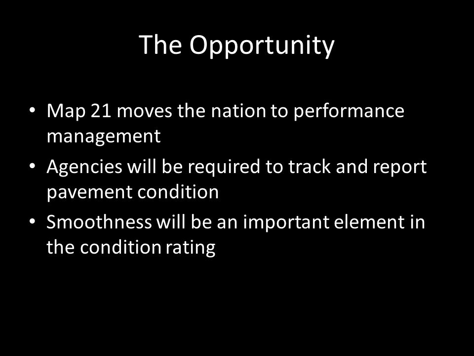 The Opportunity Map 21 moves the nation to performance management