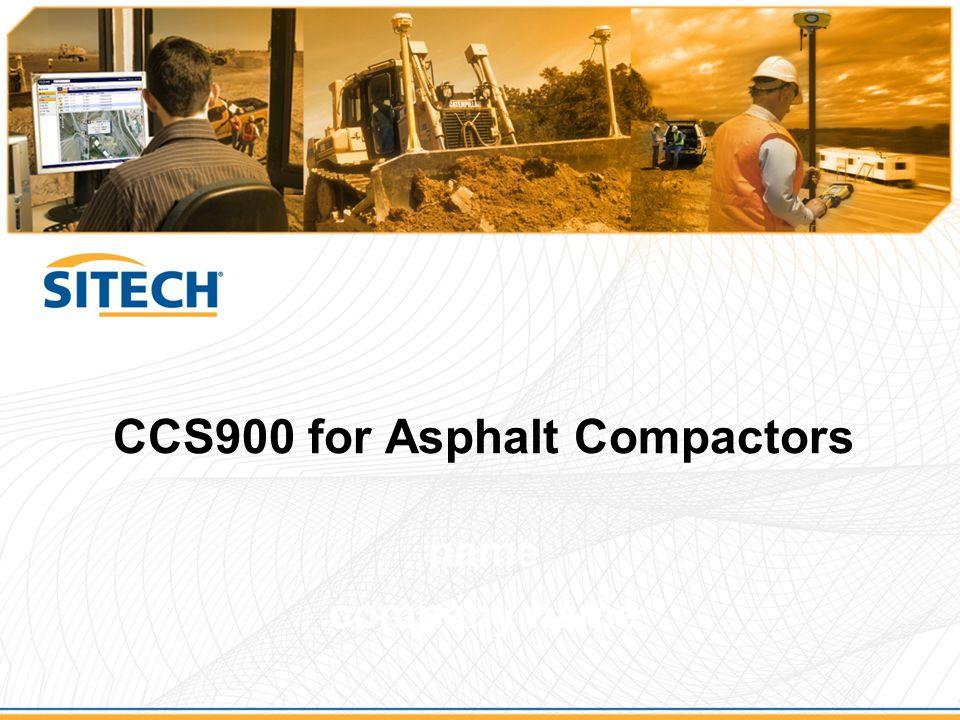 CCS900 for Asphalt Compactors