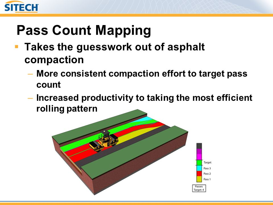 Pass Count Mapping Takes the guesswork out of asphalt compaction