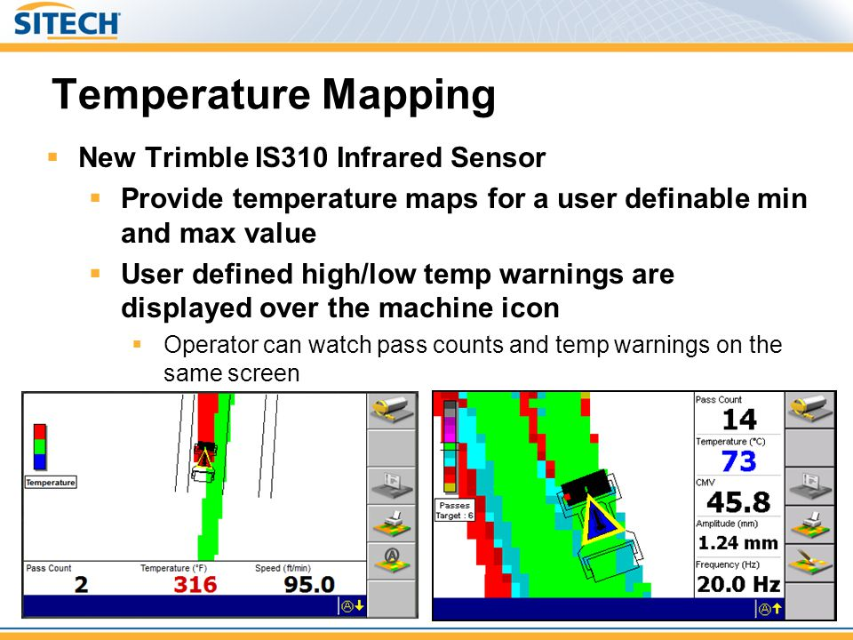 Temperature Mapping New Trimble IS310 Infrared Sensor