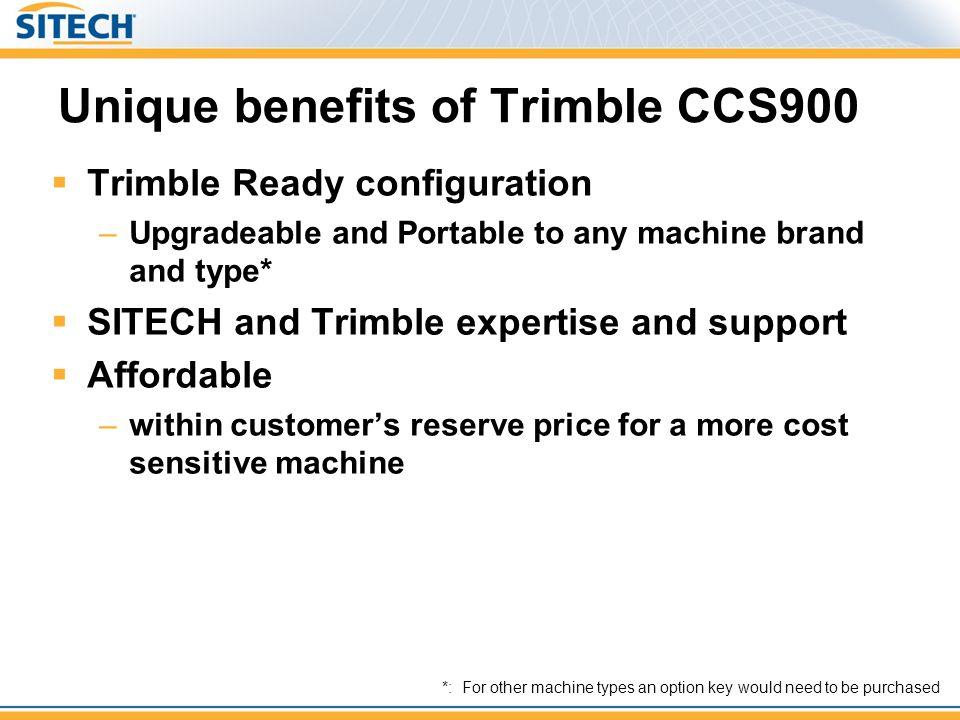 Unique benefits of Trimble CCS900