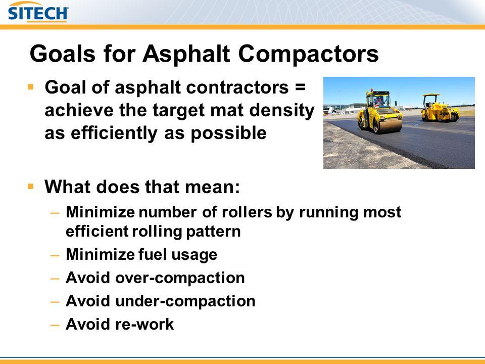 Goals for Asphalt Compactors