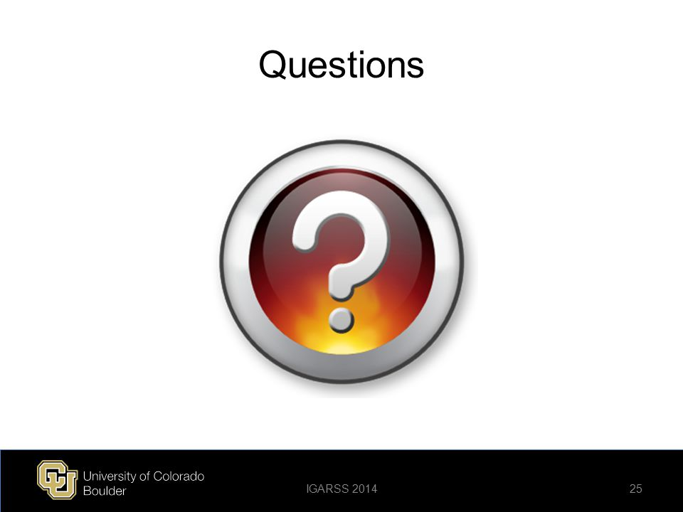 Questions IGARSS 2014