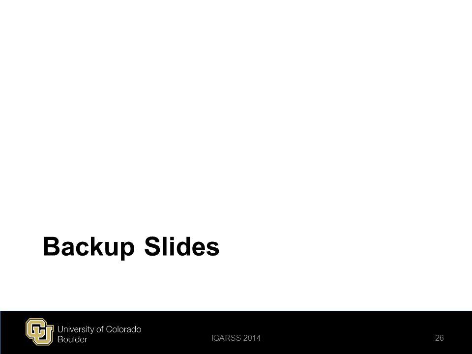 Backup Slides IGARSS 2014
