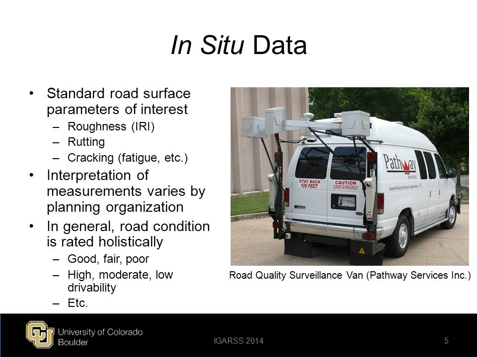 Road Quality Surveillance Van (Pathway Services Inc.)