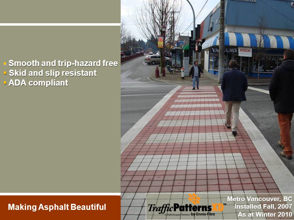 Skid and slip resistant ADA compliant