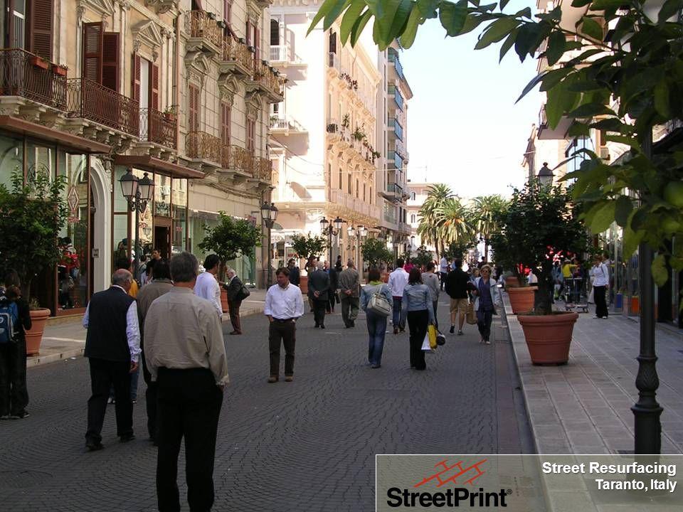 Street Resurfacing Taranto, Italy