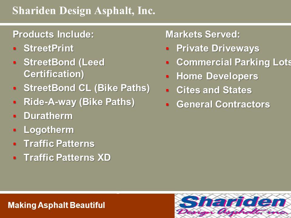 Shariden Design Asphalt, Inc.