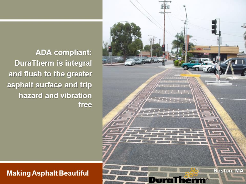 and flush to the greater asphalt surface and trip