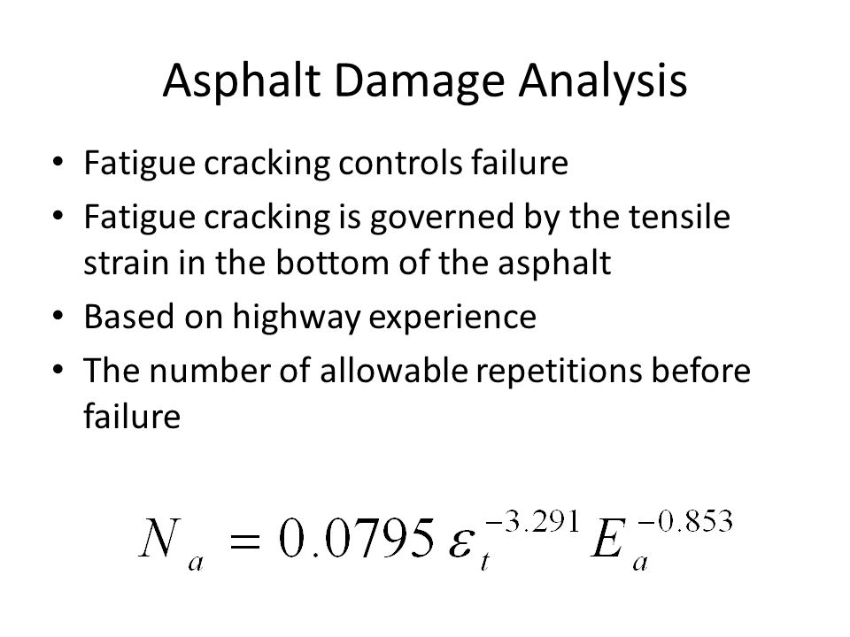 Asphalt Damage Analysis