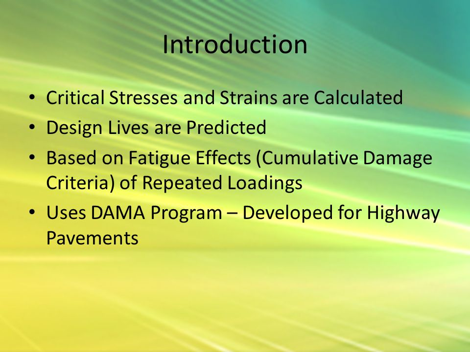 Introduction Critical Stresses and Strains are Calculated