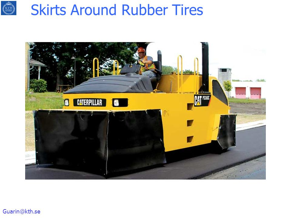 Skirts Around Rubber Tires