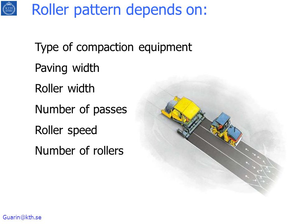 Roller pattern depends on:
