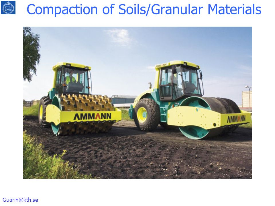 Compaction of Soils/Granular Materials