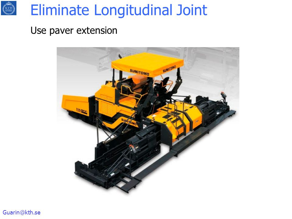 Eliminate Longitudinal Joint