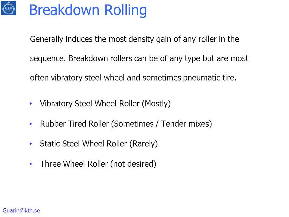Breakdown Rolling