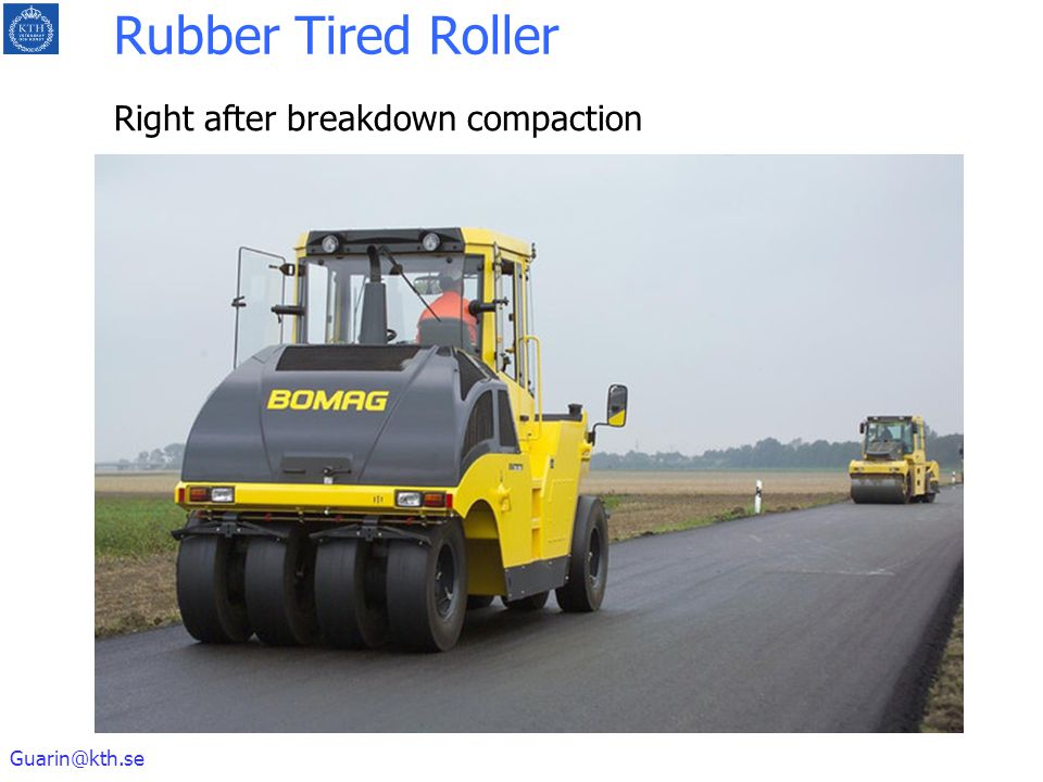 Rubber Tired Roller Right after breakdown compaction