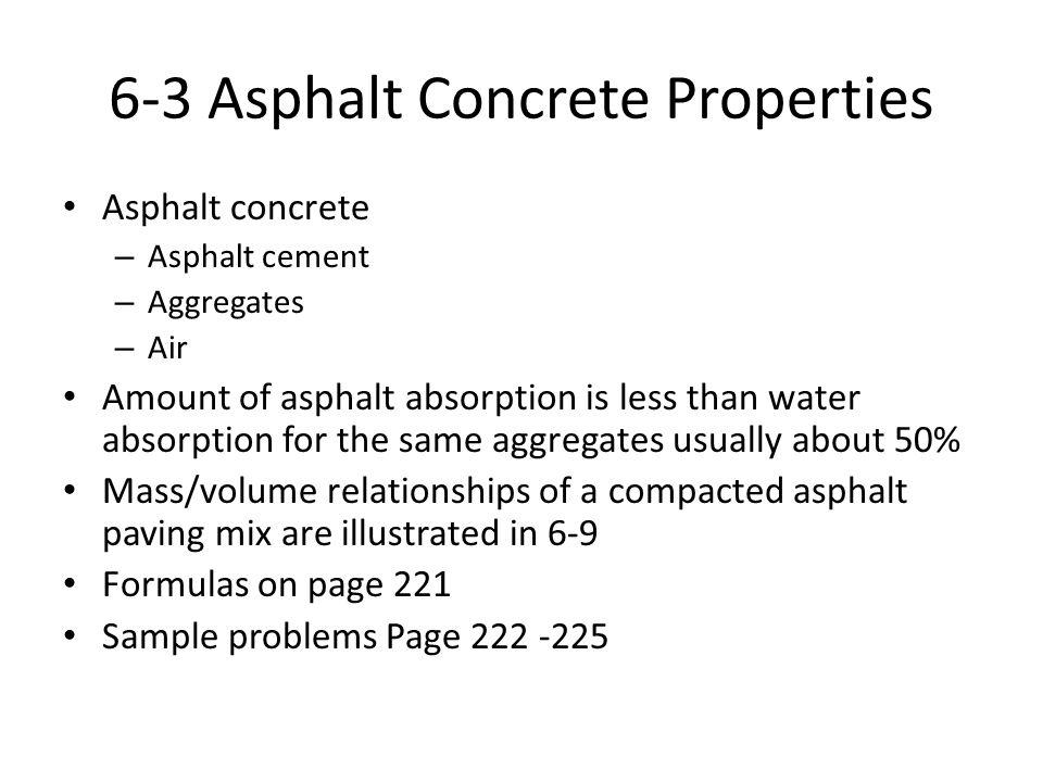 6-3 Asphalt Concrete Properties