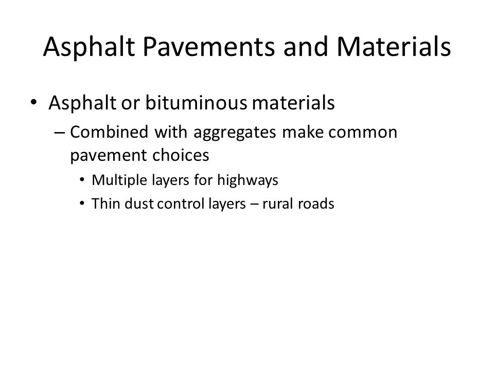 Asphalt Pavements and Materials