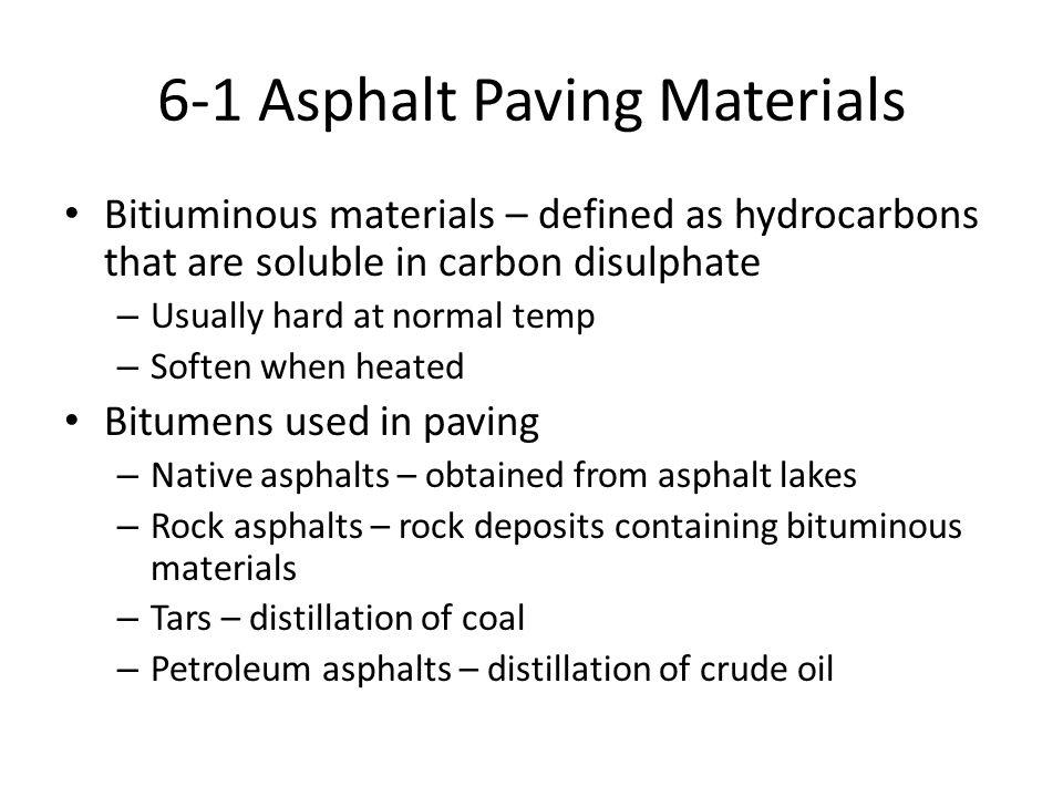 6-1 Asphalt Paving Materials