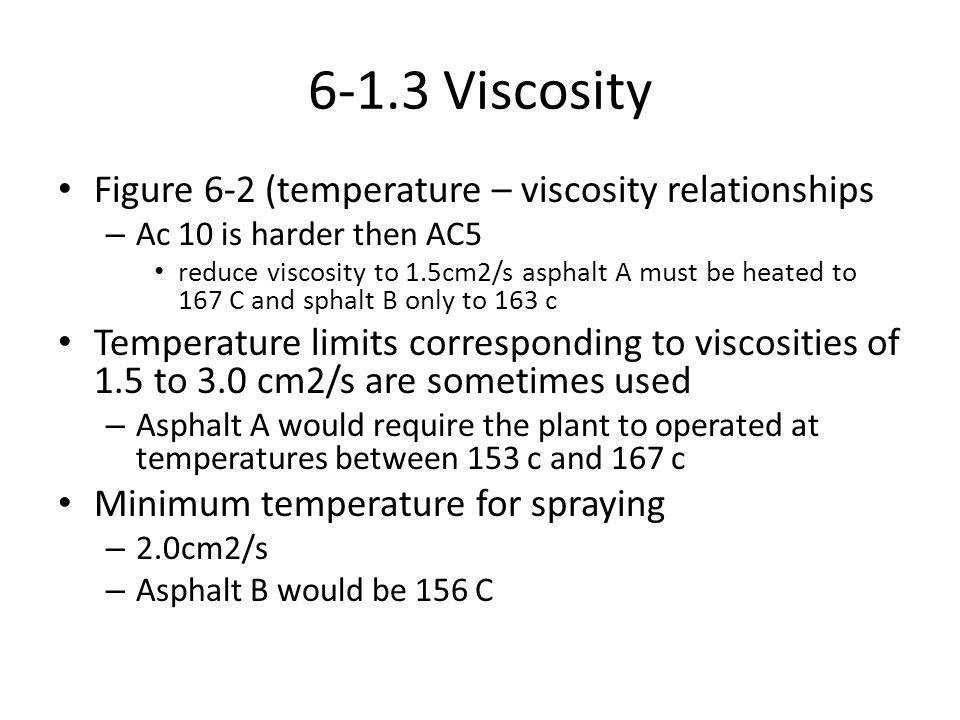 6-1.3 Viscosity Figure 6-2 (temperature – viscosity relationships