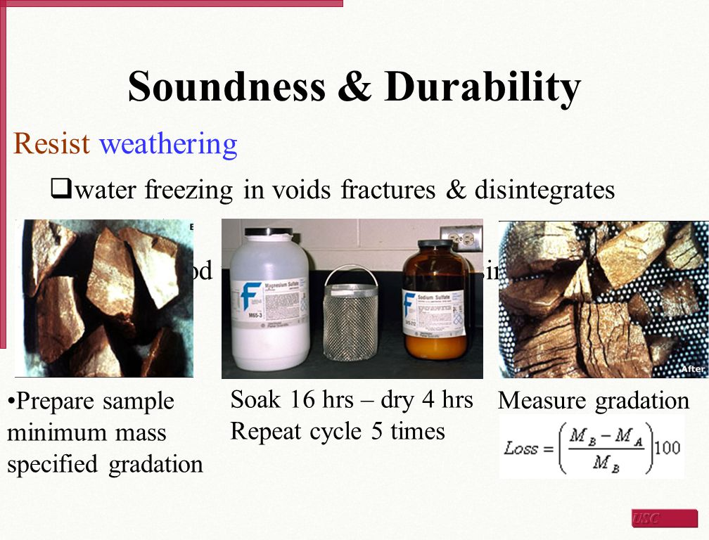 Soundness & Durability