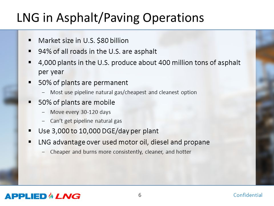 LNG in Asphalt/Paving Operations