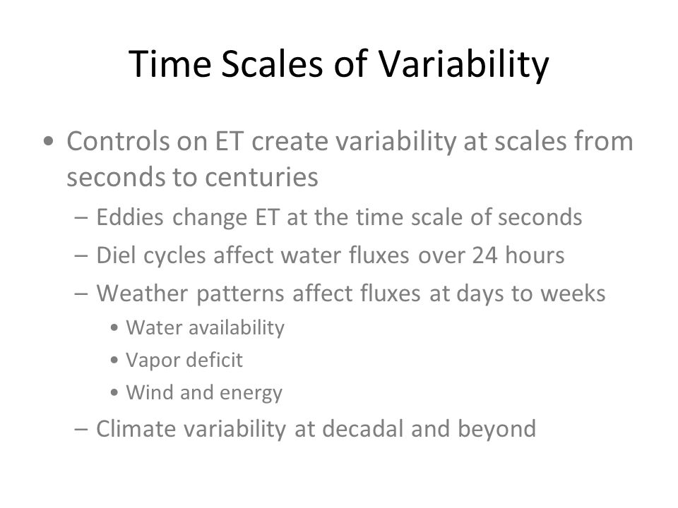 Time Scales of Variability