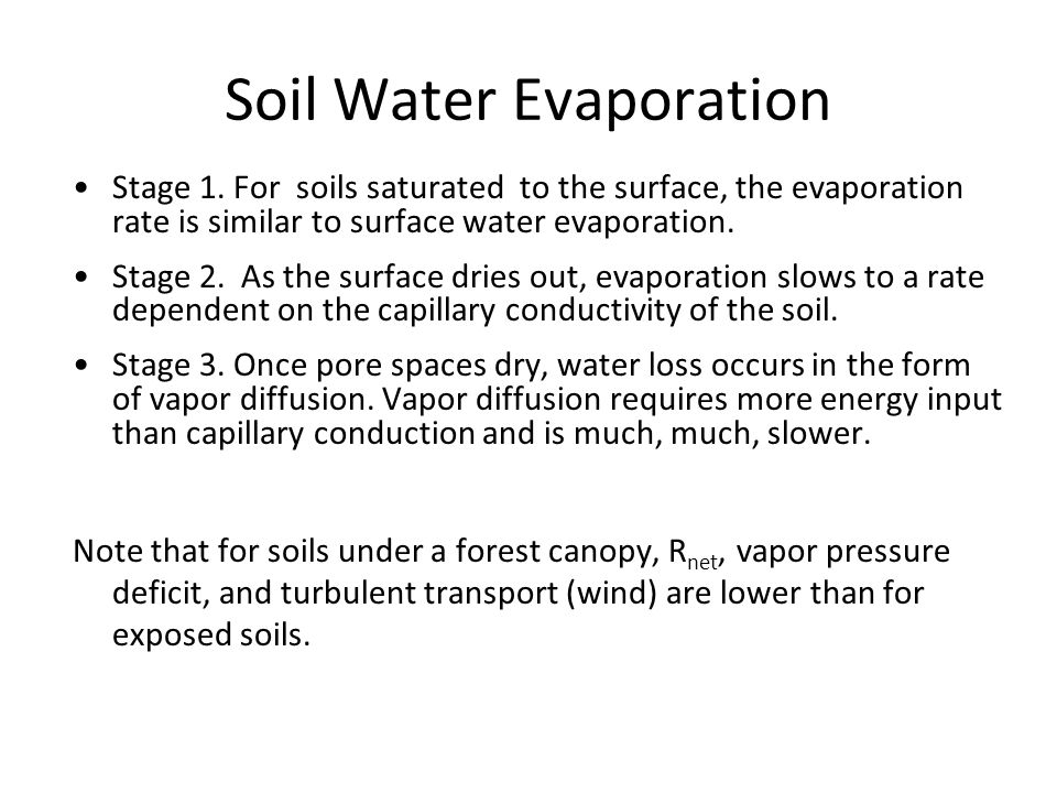 Soil Water Evaporation