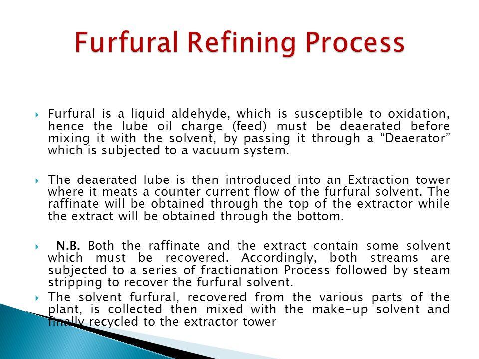 Furfural Refining Process