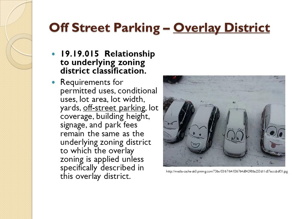 Off Street Parking – Overlay District