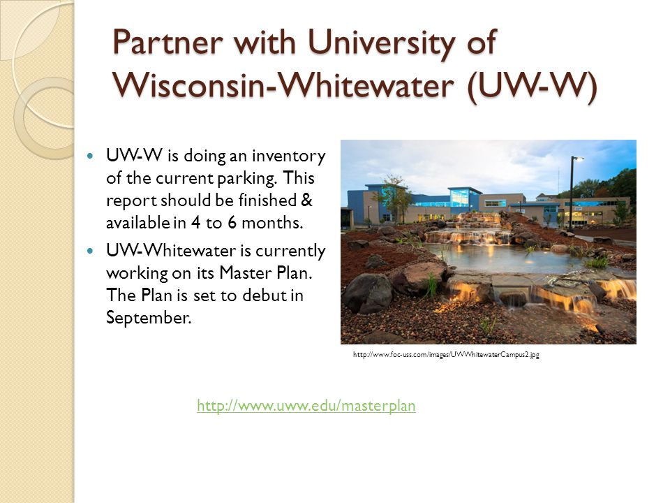 Partner with University of Wisconsin-Whitewater (UW-W)
