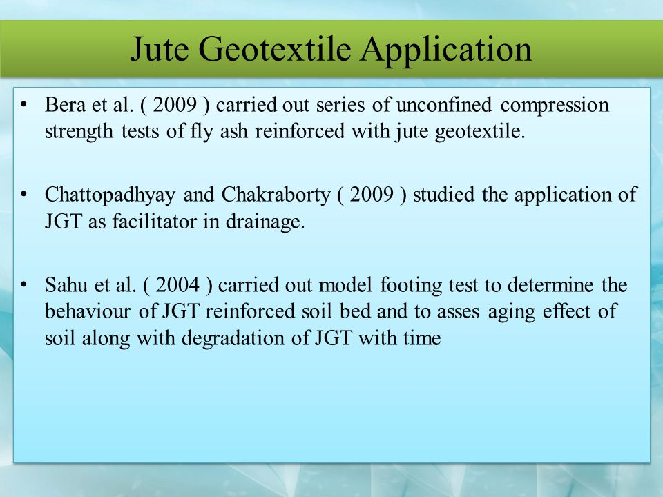Jute Geotextile Application