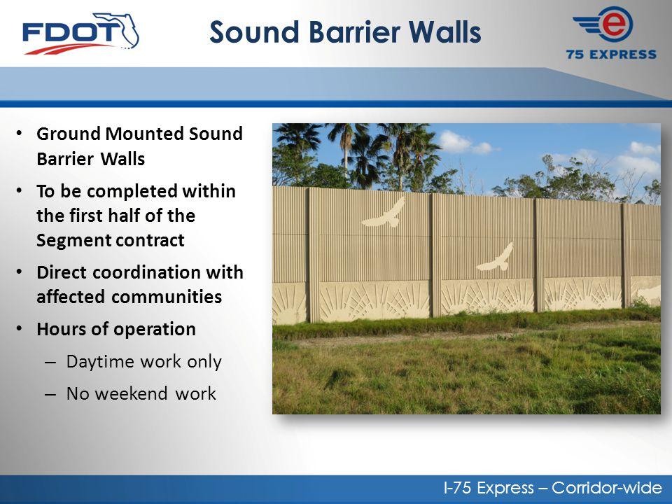 Sound Barrier Walls Ground Mounted Sound Barrier Walls