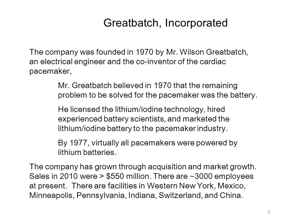 Greatbatch, Incorporated