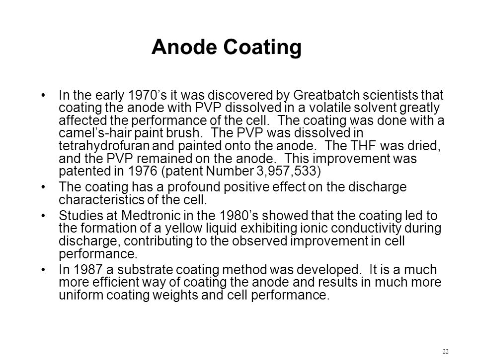Anode Coating