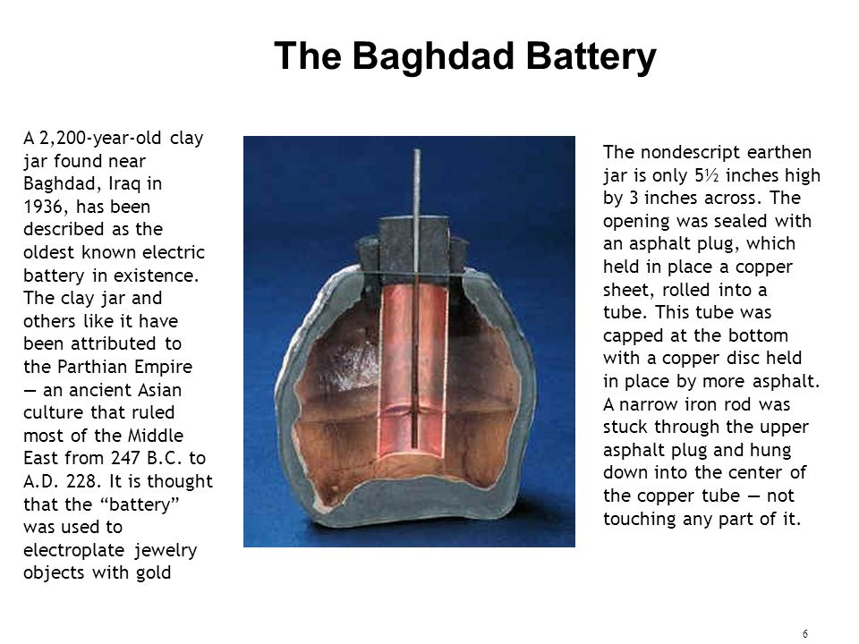 The Baghdad Battery.