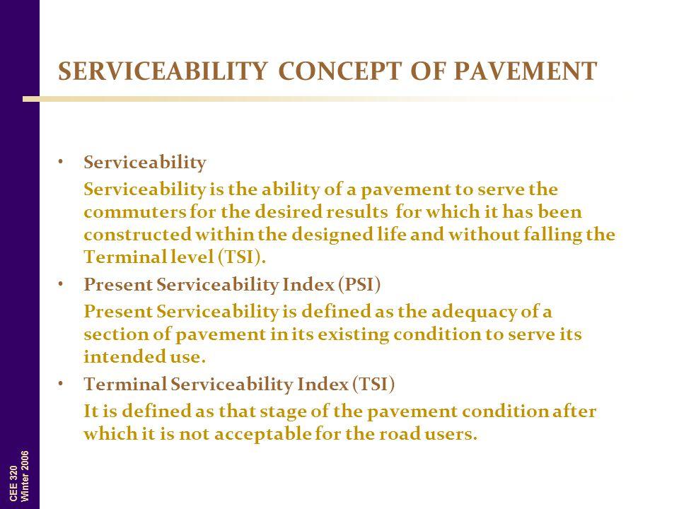SERVICEABILITY CONCEPT OF PAVEMENT