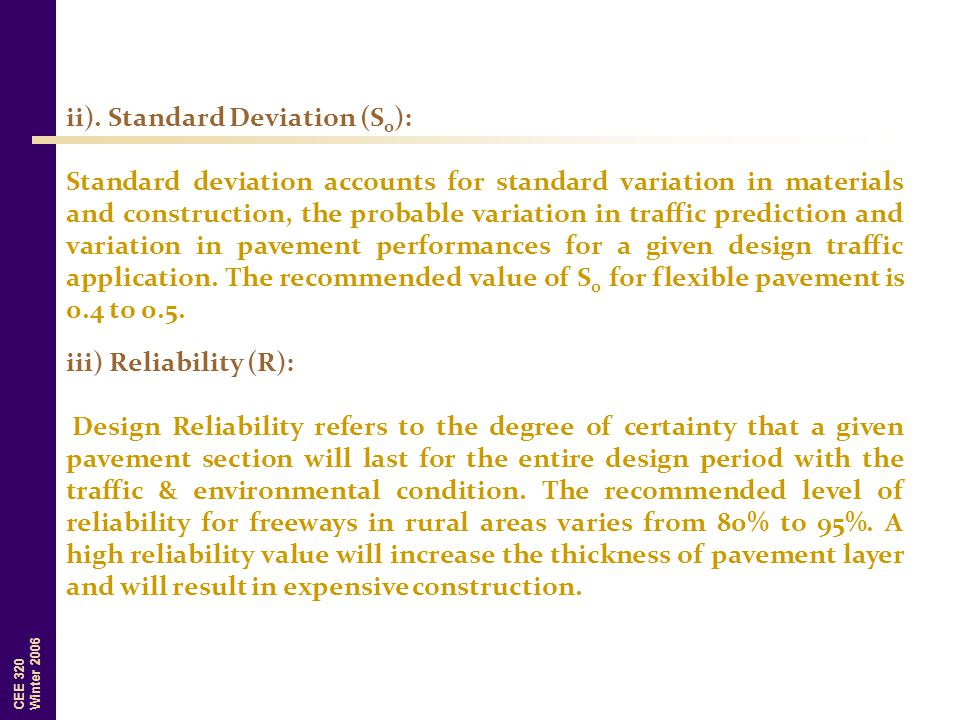 ii). Standard Deviation (S0):