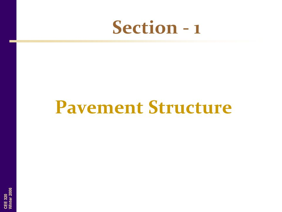 Section - 1 Pavement Structure
