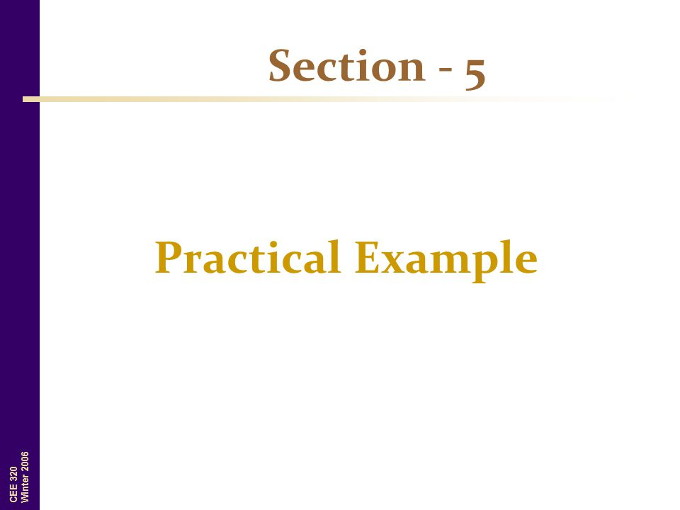 Section - 5 Practical Example