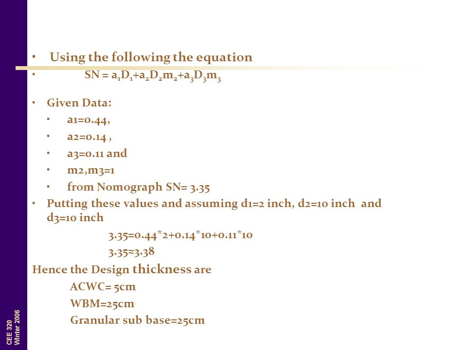 Using the following the equation