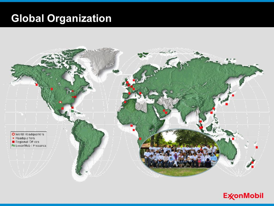 Global Organization I'd like to draw your attention to the map shown here.