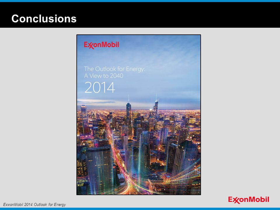 Conclusions Slide Overview: Wrap up (featuring cover of 2014 Outlook for Energy report)