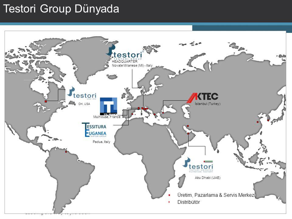 Testori Group Dünyada Üretim, Pazarlama & Servis Merkezi Distribütör