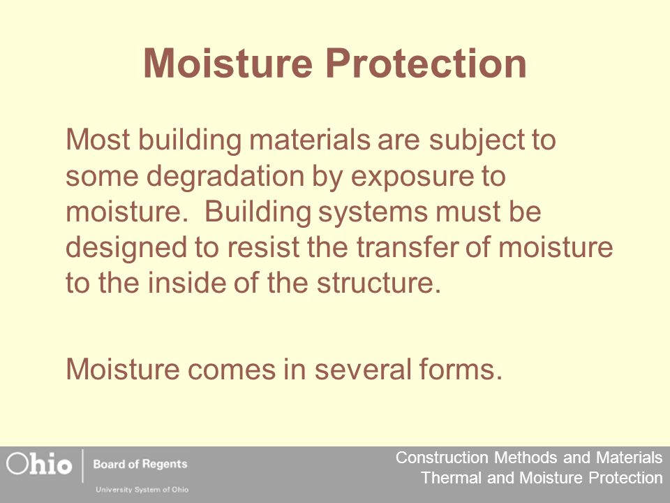 Moisture Protection