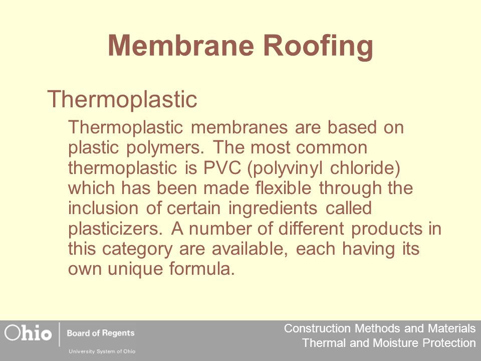 Membrane Roofing Thermoplastic