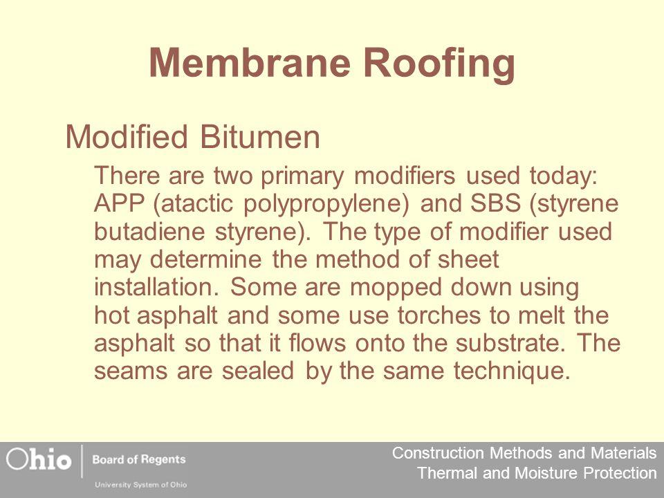 Membrane Roofing Modified Bitumen
