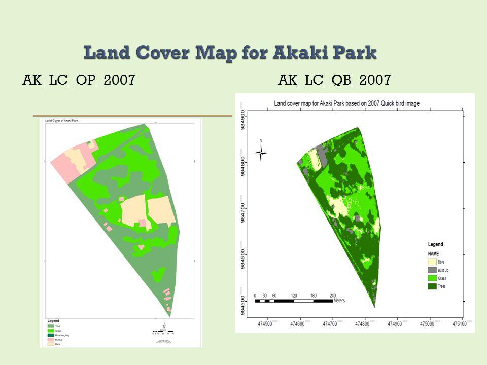 Land Cover Map for Akaki Park