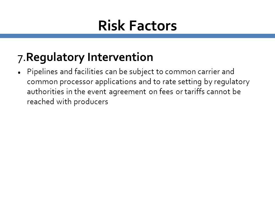 Risk Factors 7.Regulatory Intervention